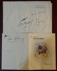 Signed by Errol Flynn and Ian Fleming