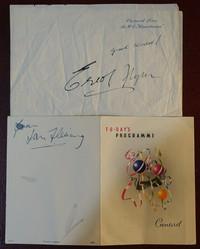 Signed by Errol Flynn and Ian Fleming