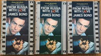 From Russia With Love | Pan | Movie Tie In. The punched holes caused issues.  Left - damaged, middle un-punched, right poorly aligned