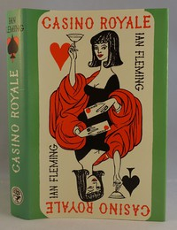 Jonathan Cape | Casino Royale with later dust jacket. This artwork was used from the 4th edition onwards.