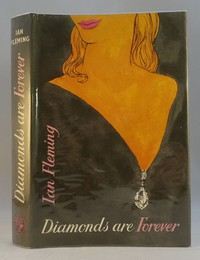 Jonathan Cape | Diamonds Are Forever 1st edition. The same dust jacket artwork was used on all editions