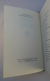 Jonathan Cape | Dr No 1st edition. 1st edition copyright page