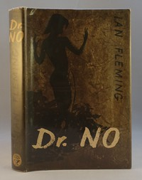 Jonathan Cape | Dr No 1st edition. Only the 1st edition dust jacket has Ian Fleming on the spine in black.  Later editions have white text.