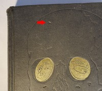 Jonathan Cape   Goldfinger 1st edition. A minority of first editions have extra detail to the skull (circled in red)