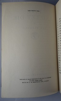 Jonathan Cape Live And Let Die 1st edition. 1st edition information.