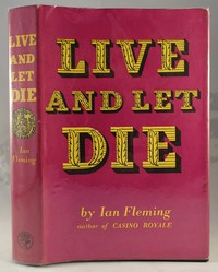 Jonathan Cape Live And Let Die 1st edition. The design was used for all editions