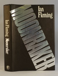 Jonathan Cape   Moonraker with later jacket. This dust jacket was used from the 9th edition onwards
