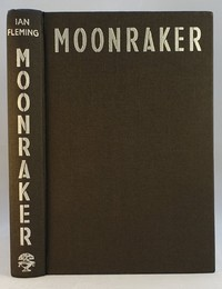 Jonathan Cape | Moonraker 1st edition. The design was used for all editions.