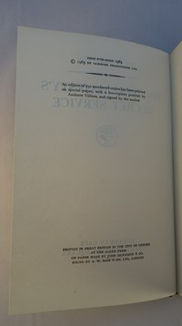 Jonathan Cape | On Her Majesty's Secret Service 1st edition. 1st edition copyright page