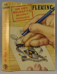 Jonathan Cape   On Her Majesty's Secret Service 1st edition. The same dust jacket artwork was used on all editions except the signed limited edition