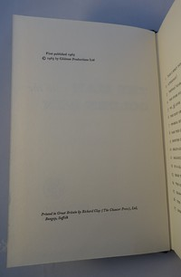 Jonathan Cape | The Man With The Golden Gun. 1st edition copyright page