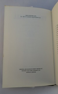 Jonathan Cape | Thunderball 1st edition. 1st edition copyright page