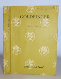 Uncorrected proof copy of Goldfinger by Ian Fleming, published by Jonathan Cape