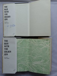Jonathan Cape | The Man With The Golden Gun. A small number of first editions have plain white endpapers rather than the usual green marbled ones