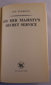On Her Majesty's Secret Service | TLC (The Leisure Circle). Title page