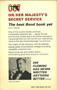 On Her Majesty's Secret Service   Pan   Hawkey   X350. Some unpriced 1st editions have