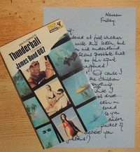 Thunderball | Pan | Movie | X201. Promotional letter from Domino as found in 14th printing