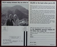On Her Majesty's Secret Service   Pan   Hawkey   X350. Prudential insurance postcard as found in 6th printing