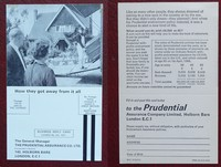 On Her Majesty's Secret Service   Pan   Hawkey   X350. Prudential insurance postcard as found in 4th printing