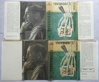 Thunderball | Cape | Uncorrected Proof. Proof jacket (lower) has different text on the flaps compared to the 1st edition (top)